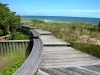 Newcastle_Pawleys Island_beach boardwalk with benches_native grasses and wood steps