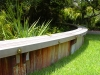 Kiawah_wooden planting bed seat wall