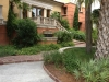 Jager_landscape architecture_kiawah island_custom hardscape with water feature in native plant garden
