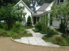 Livingston_ tabby paver walkway and soldier brick border in native plant garden