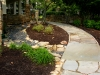 paris mountain_greenville_south carolina_rock swale with stone walkway