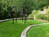 paris mountain_greenville_south carolina_sculpture with stone terrace garden in lawn
